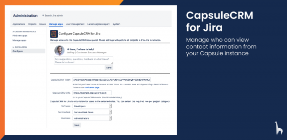 Manage who can view the information displayed by CapulseCRM for Jira.