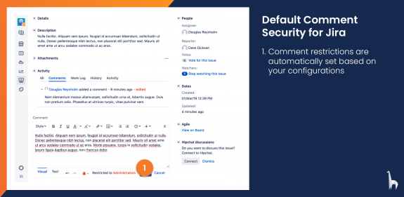 Comment security roles are automatically set based on a user's groups and the app configuration.