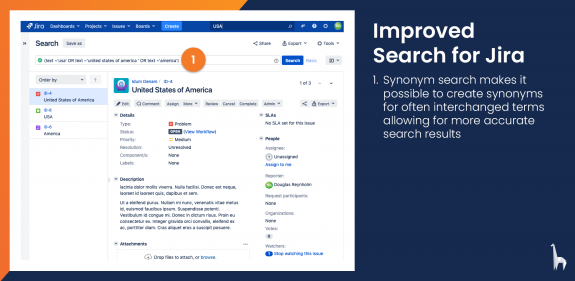 Synonym search makes it possible to create synonyms for often interchanged terms allowing for more accurate search results.